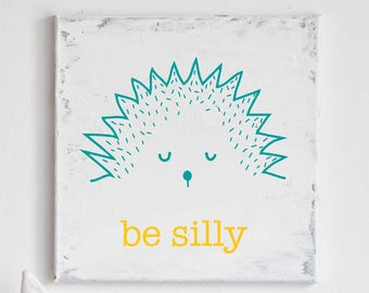 Hedgehog Decal for Walls  // Hedgehog Decal // Children's Name Sign // Animal Wall Decal // Name Decal