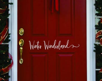 Winter door decor //  Winter Wonderland Decorations  // Merry Christmas  Decal  // Winter Door Decal  // Farmhouse Christmas