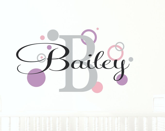 Vinyl Stickers, Wall Stickers, Custom Name, Name Sign, Bedroom Wall Art, Custom Vinyl Decal, Kids Room Decor, Name Wall Decal, Your Name