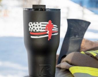 Firefighter Gift // RTIC Custom Tumbler   // Gift for Fireman // Gift for Dad //Fireman Mug