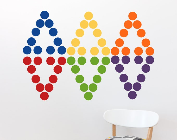 Rainbow Polka Dot Decals // Peel and Stick Dots // Polka Dot Stickers // Nursery Wall Decor // Playroom Stickers // Wall Decals