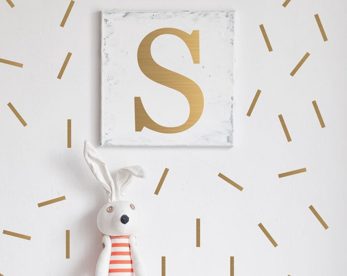 Gold Confetti Wall Decals // qty 540 Peel and Stick Confetti // Nursery Wall Decals // gold Sprinkles