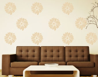 Flower Wall Decals - Small Decal - Pattern Flower Great for Bedroom or Living Room Wall Art  Decor -  Floral Wall Decor