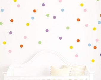 Polka Dot Decals // Polka Dots // Playroom Decor // Polka Dot Wall Decals // Design Bundles // Confetti Decals // Nursery Wall Art