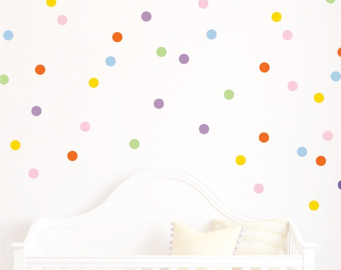 Polka Dot Decals // Polka Dots // Playroom Decor // Polka Dot Wall Decals // Design Bundles // Confetti Decals // Nursery Wall Art