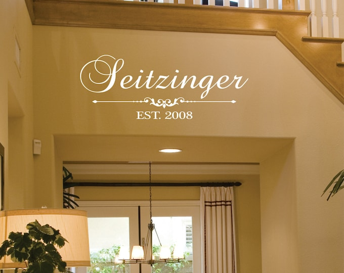 Family Name Wall Decals - LucyLews