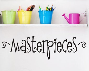 Masterpieces Wall Decal // Childrens Wall Decals // Playroom Decor // Art Display