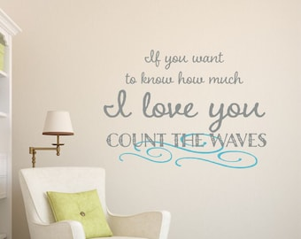 Wall Decal  - Baby Boy Nursery Vinyl Lettering - If you want to know how much I love you