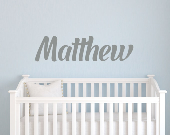 Baby Nursery Decals, Nursery Name Sign, Baby Boy, Name Wall Decal, Vinyl Stickers, Vinyl Lettering, Custom Vinyl Decal, Bedroom Wall Art