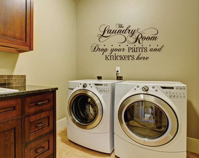 Laundry Room Decal - Laundry Vinyl Wall Decal - Wall Decal - Laundry Room Decor - Laundry Room Fancy Decal