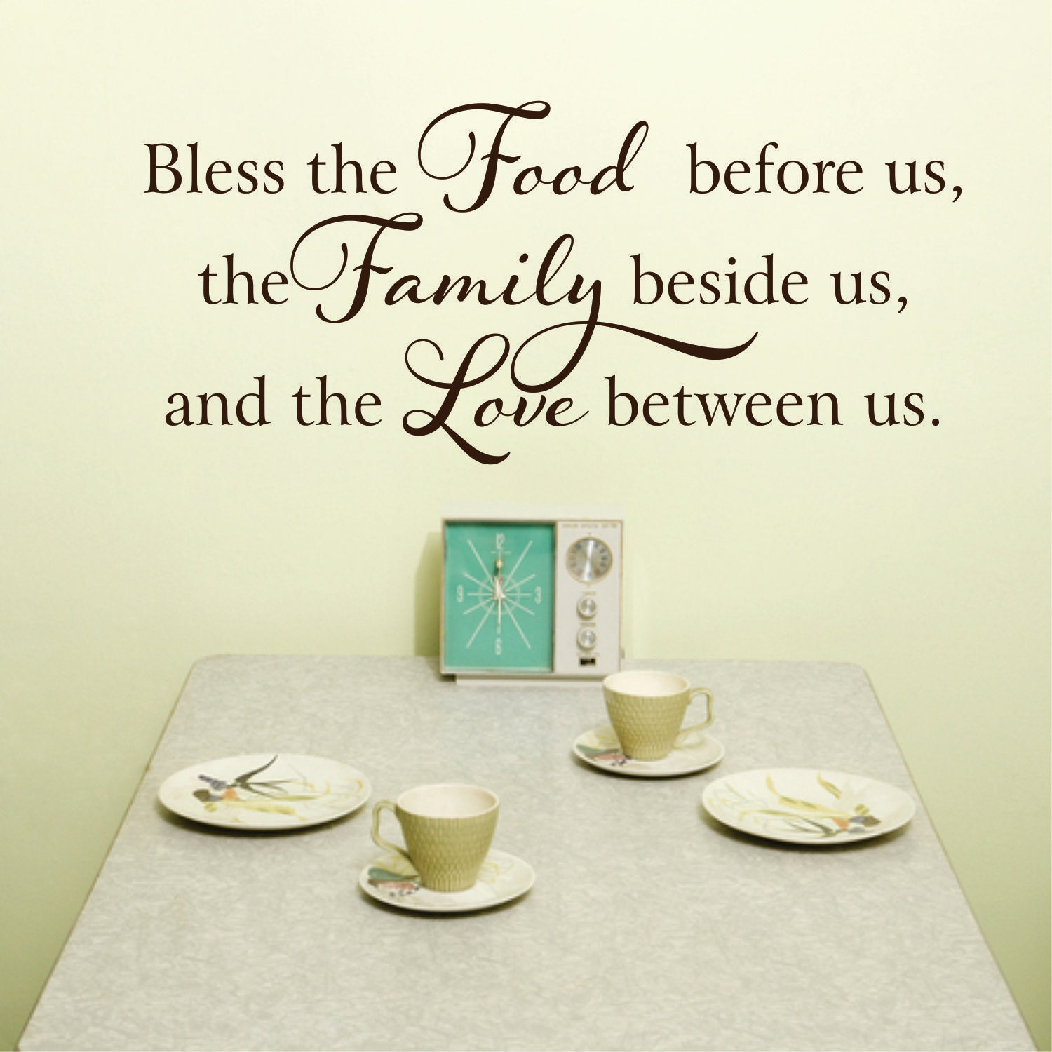 Kitchen Wall Decal - Kitchen Decor - Kitchen Signs - Bless this Food ...