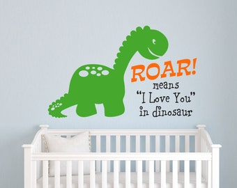 Dinosaur Wall Decal, Dinosaur Wall Decor, Dinosaur Decor, Kids Room Decor, Wall Decal Boys Room, Nursery Wall Art, Vinyl Decals, Lucylews