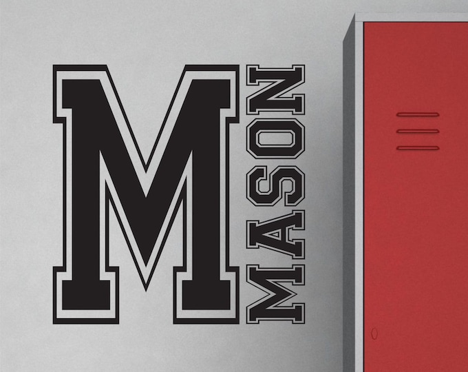 Sports, Wall Decor, Vinyl Name Decal, Kids Room Decals, Wall Decal Boys Room, Name Sign Kids, Monogram Wall Art, Vinyl Lettering, Lucylews