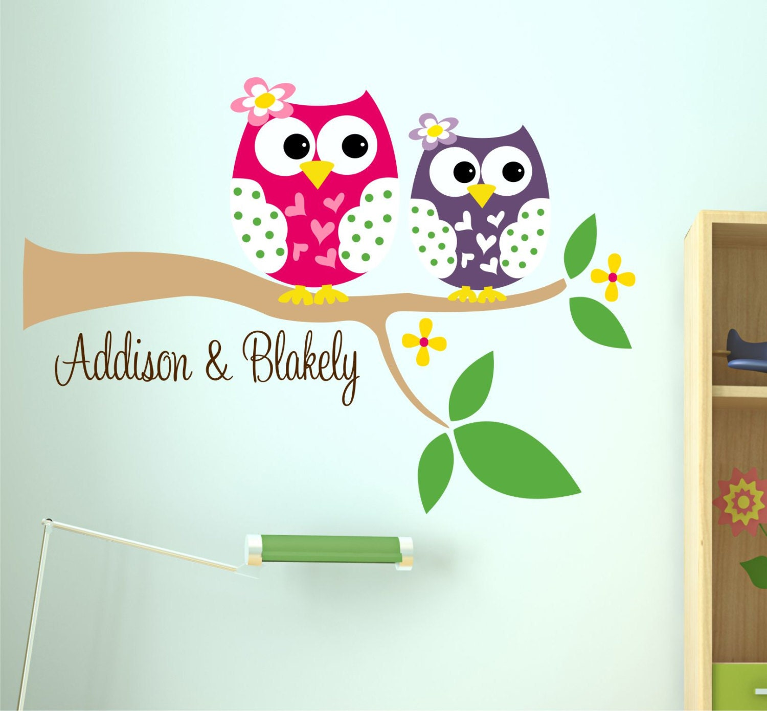 ... Owl Sisters Wall Decal. Gallery Photo Gallery Photo ...