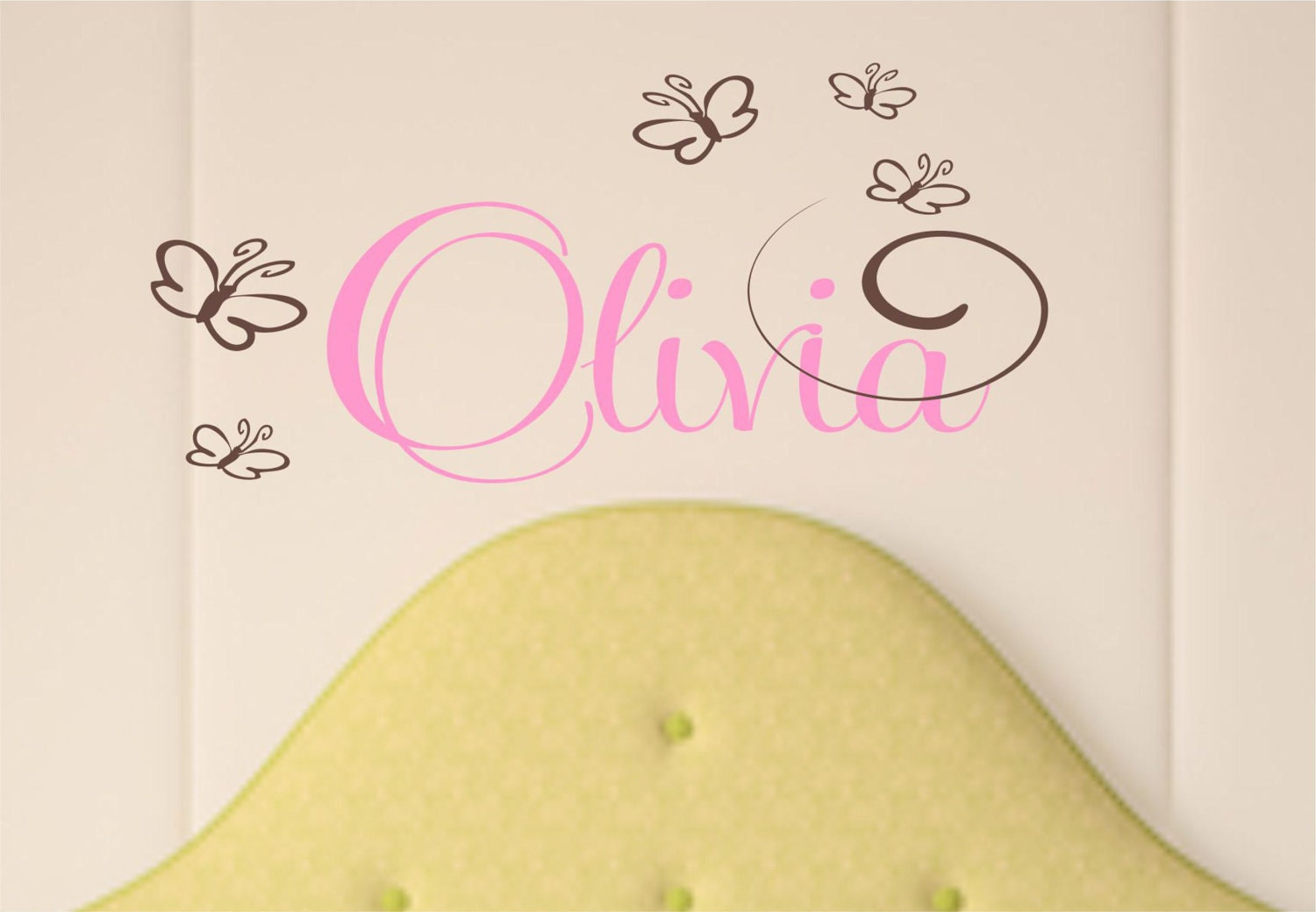 Vinyl Name Decal, Butterfly Wall Art, Butterfly Sticker, Wall ...