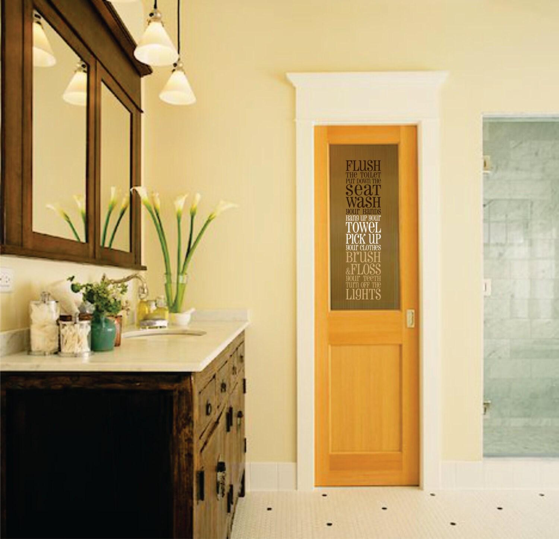 Bathroom Wall Decal // Bathroom Vinyl Wall Decal // Bathroom Subway ...
