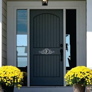 Bon Monogram Door Decor   Name Wall Decal   Personalized Vinyl Lettering For  Door   Front Door Decals   Decals