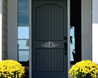 Monogram Door Decor - Name Wall Decal -  Personalized Vinyl Lettering for Door - Front Door Decals - decals