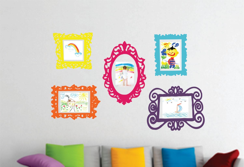 Wall Decal Set of 5 Frames - Playroom Decor - Bedroom Wall Decal ...