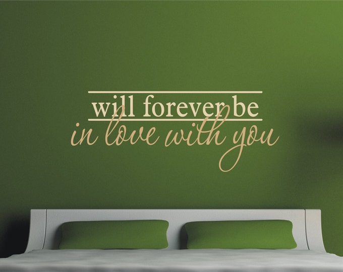 Bedroom Vinyl Decal  - Love Wall Decal - In Love with You Wall Vinyl Decal -  Wedding Decor