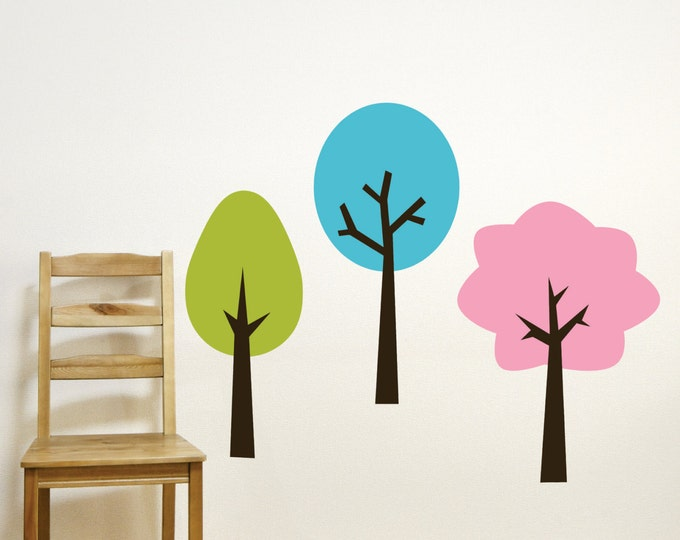 Tree Wall Decals // Playroom Wall Decals // Tree Wall Art // Tree Wall Decors // Nursery Tree Decal // Bedroom Decor // Playroom Art