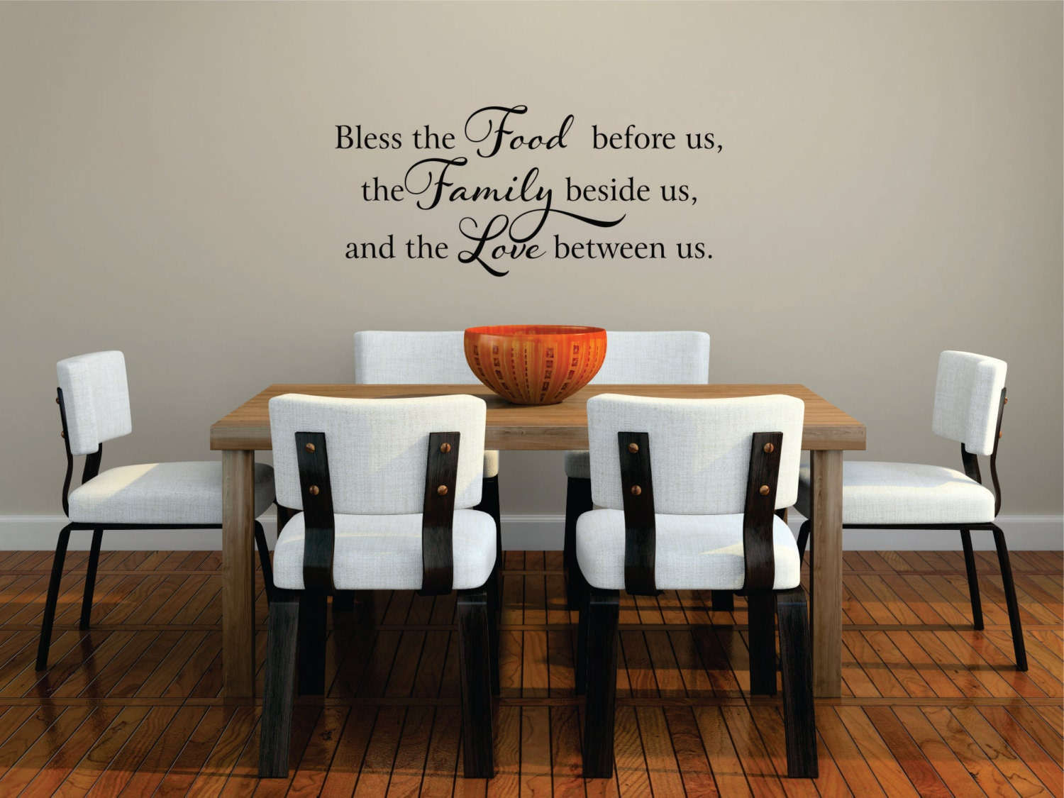 bless the food before us wall decal kitchen wall art food