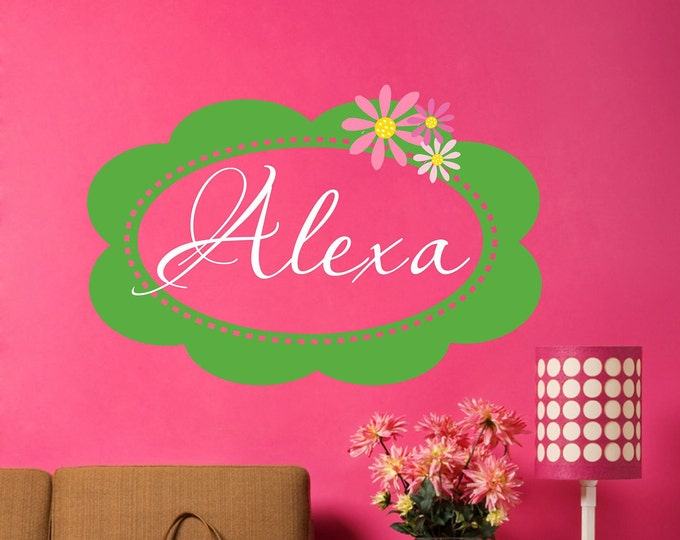 Name Frame, Wall Decal, Vinyl Decals, Bedroom Wall Art, Kids Name Sign, Teen Room Decor, Girls Name Decal, Vinyl Name Decal, Custom Signs