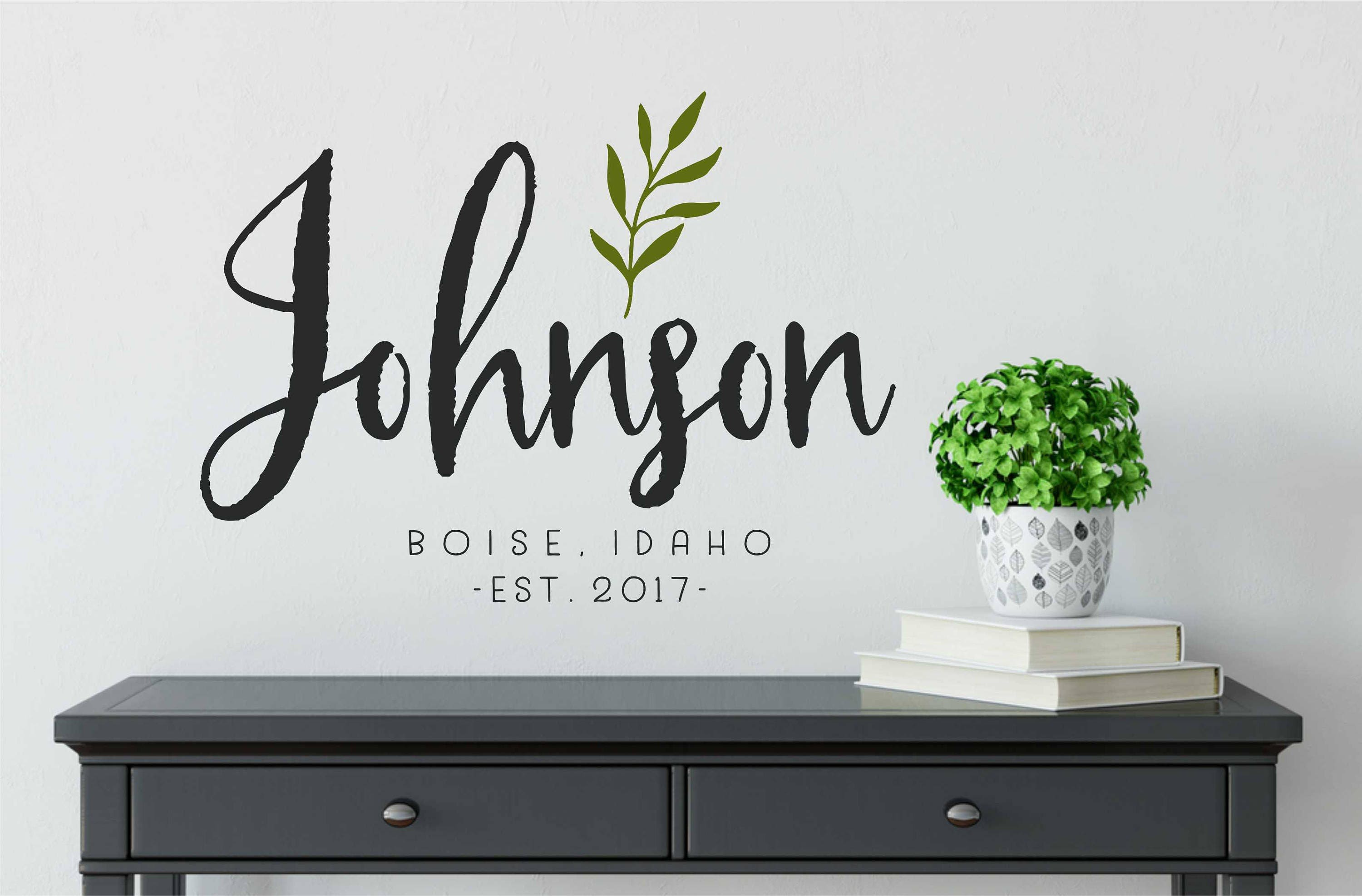 Farmhouse Family Name Decals for Walls // Personalized Family Name Sign // Name Wall Decal // Established Date / /Last Name Decal // & Farmhouse Family Name Decals for Walls // Personalized Family Name ...