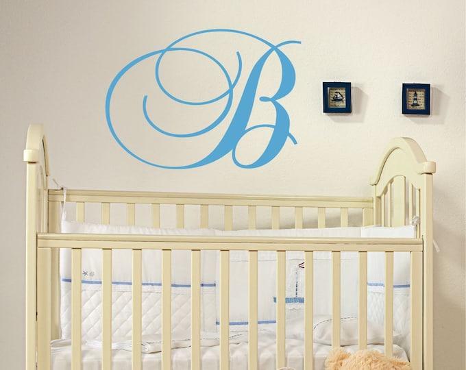 Custom Monogram Wall Decal // Initial Wall Decal // Nursery Vinyl Sticker // Family Monograma Decal // Monogram Initial // Home Decor