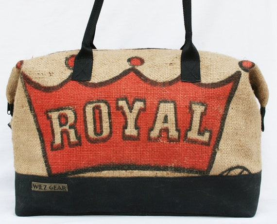 2981bf7863 Large Weekender Bag   Burlap Duffle Bag   Duffel Bag