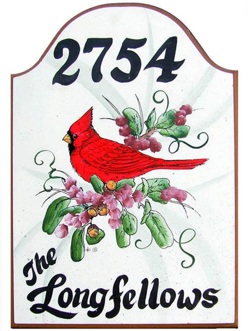 Cardinal signs-Personalized -welcome signs-custom signs