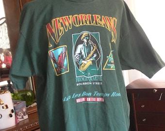 new orleans  bourbon st tee shirt size xxl