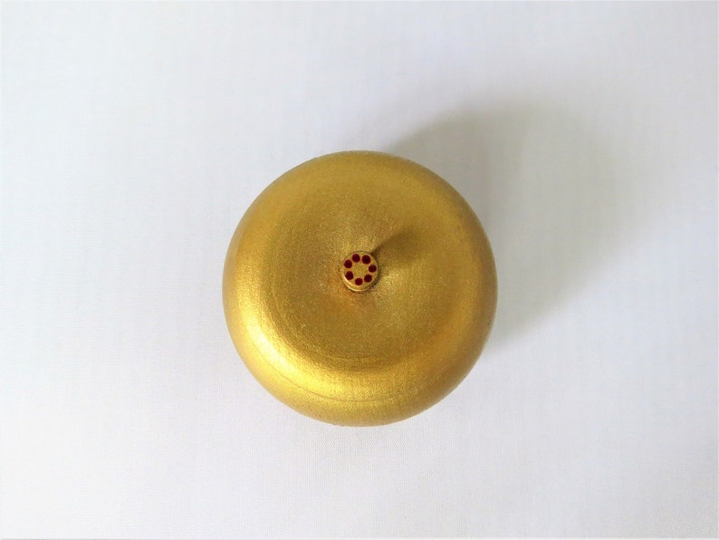Small Change or Jewelry Round Box of Any Color with Flower Decorations