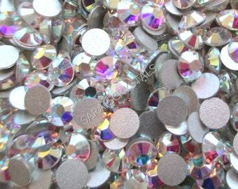 b31acae58e78 100 pcs Swarovski Flatbacks Crystal Clear AB 20ss (4.6 - 4.8mm) SS20 2028  Xilion Rose