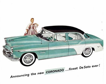 6103419a6be3e Vintage Chevrolet Advertisement 1961 Chevy Impala Covertable | Etsy