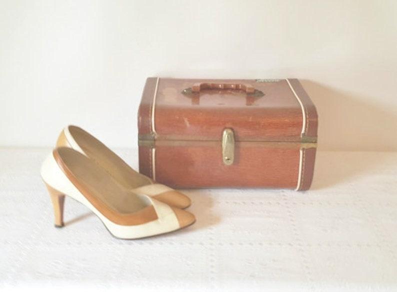 1747dd0b1 Vintage Size 7 8 Women's Pumps Leather Shoes Brown | Etsy