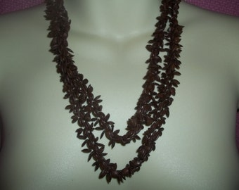 Natural Seed Cluster Continuous 66 Inch Necklace
