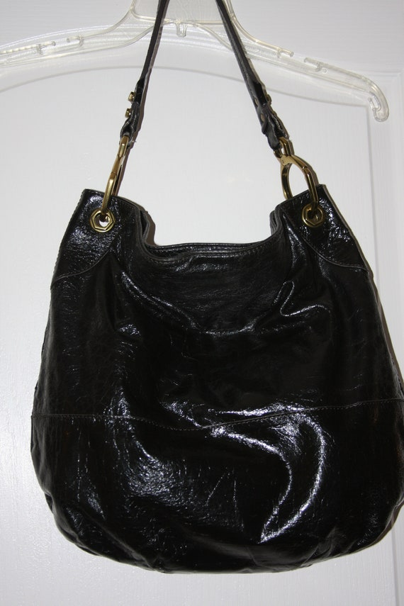 215a3db10507 orYANY Black Patent Leather Shoulder Bag Pocketbook Purse