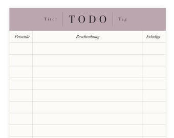 To-Do List A6 – 75 Pages