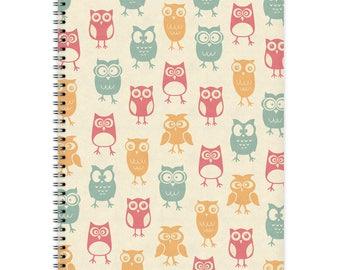 Notebook A4 - Owl-Pattern