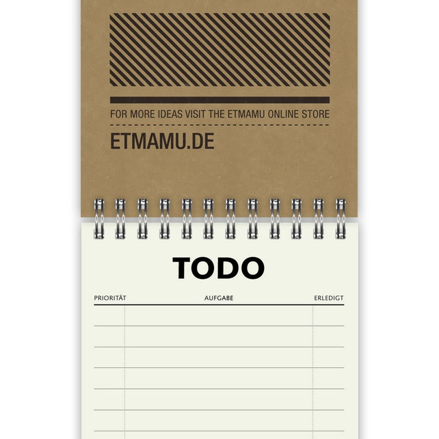 Todo List A6 | Simple | notebook | note pad | lists | gift tags | paper tags | planner | spiral notebook | organizer | present idea