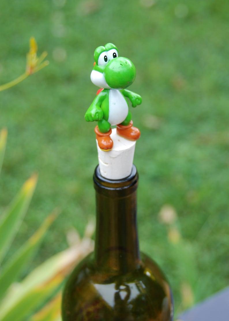 Yoshi Wine Bottle Stopper Super Mario Brothers Dinosaur image 0