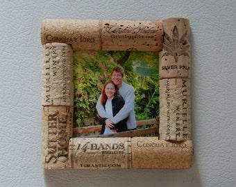 Wine Cork Picture Frame Magnet