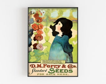Ferry 6 Vintage Seed Cover Picture Art Print Poster A4 A3 A2 A1