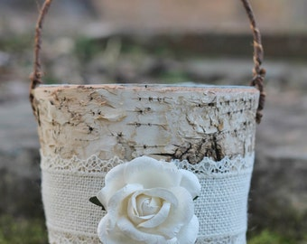 Garden Supplies Wedding Burlap Lace Ring Pillow & Flower Girl Basket Sets Aprons