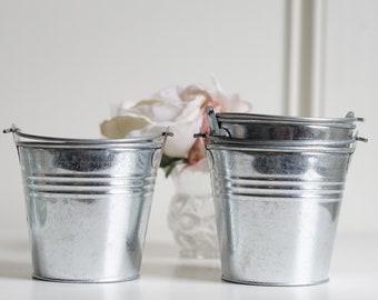 AMAZING DEAL Pails Galvanized Rustic Wedding Rustic Shabby Chic Weddings READ measurements please