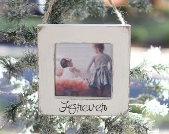 Baby's First Christmas Ornament Cousins Sisters Wedding New Family Gift, New Baby Ornament Picture Frame