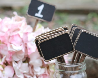 Chalkboard Table Numbers Rustic Chalkboard Signs Sticks, Set Of 10