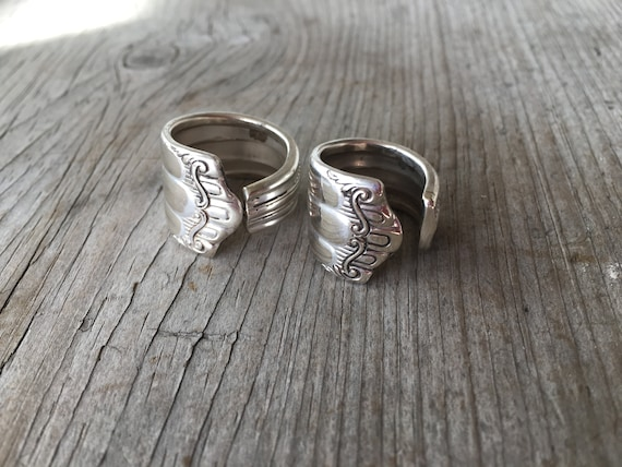 Spoonring Cutlery Jewelry Surpass ring from Coffee Spoon cutleryart jewelery upcycling silver plated loop ring