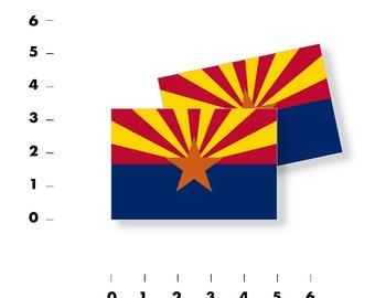 "ARIZONA SHAPED State Flag Sticker 14/"" shape phoenix car az decal"